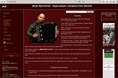 Borys Myronchuk - bayan player, composer from Ukraine